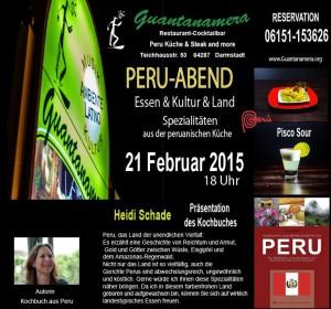 Plakat Peru Abend