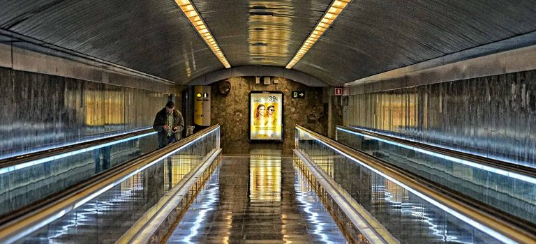 in der Metro