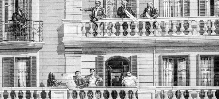 Barcelonas Berühmtheiten in einem Haus